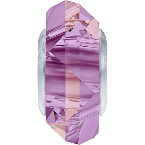 Cristaux de Swarovski 5063398 Perles Cristal 5929 MM 14,0 Crystal LILACSHADO Steel, 12 Pièces