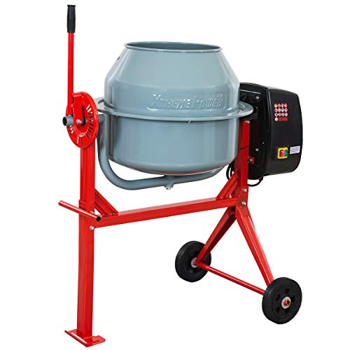 XtremepowerUS 4.0 Cu. Ft. Concrete Cement Mixer Barrow Machine Mixing Mortar, Stucco and Seeds