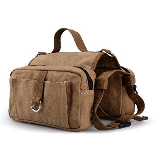 Lazutom Sac à dos en toile pour randonnée/Camping Sac de transport pour chien sac de selle