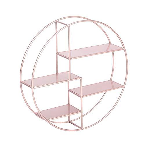 Baldas flotantes Soar Estanteria Pared,Conjunto De Madera Maciza De 3 Estantes Flotantes Estantes Decorativos En Forma De U De Cubo (Color : Rose Gold)