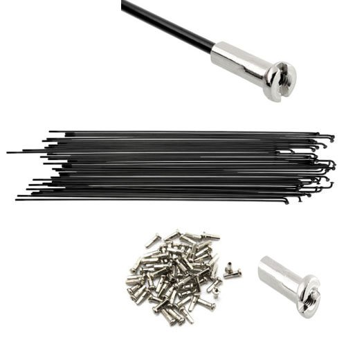 FMF Sport 36PCs Bike Spokes Stainless Steel Bicycle Spokes With Nipples 180 200mm 200