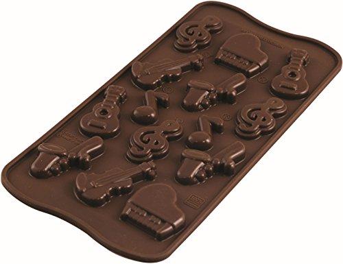 Silikomart Stampo per cioccolatini, in silicone, Choco Melody SCG 43 – Easy Choc di Silikomart