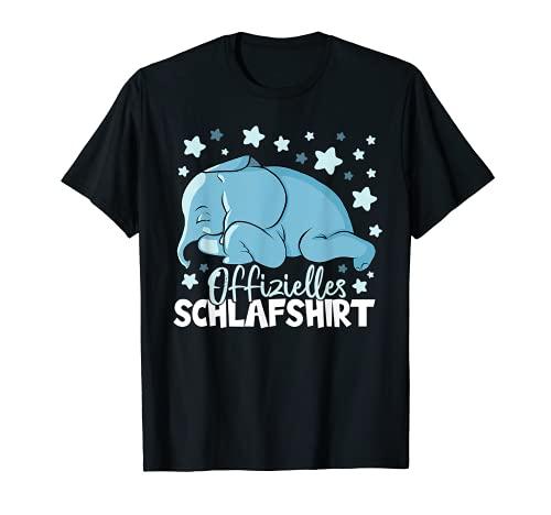 Offizielles Schlafshirt Elefant Schlaf Pyjama Damen T-Shirt