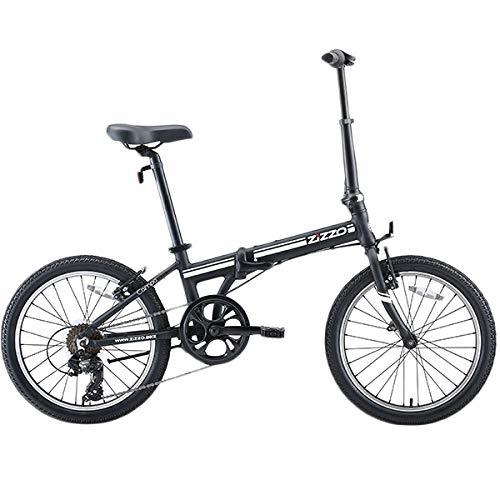 【 快適発想のプレミアム自転車 】超軽量 ZiZZO ジッゾ 20インチ 折りたたみ自転車 シマノ アルミ フレーム 軽量 折り畳み自転車 [国内正規品] (ブラックC)