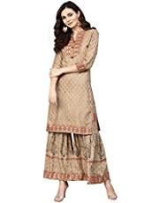 Ishin Women's Rayon a line Salwar Suit Set