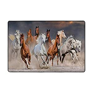 "My Little Nest Herds of Horse Running Kids Play Mat Baby Crawling Carpet Non Slip Soft Area Rug for Living Room Bedroom Dining Room Classroom Floor Mat Lightweight 4'10"" x 6'8″"