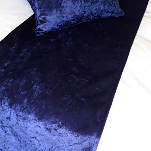 ULTIMATE SLEEP BY AWL Superior Luxurious Azul Marino Oscuro Royal Blue Alta Peso Terciopelo Estilo de Hotel Camas Runner 400GSM Double/King 47X200 CM