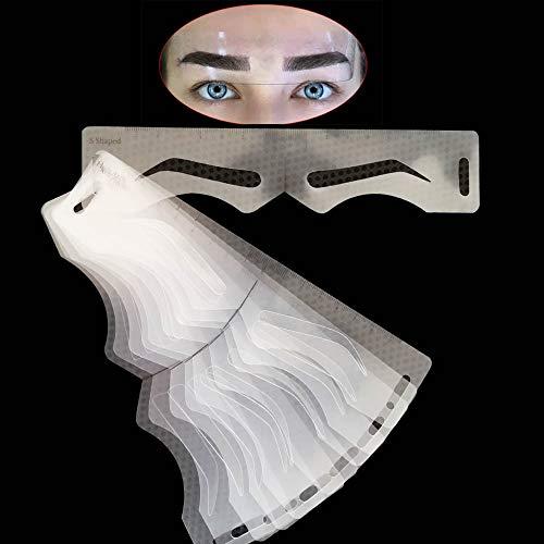 Microblading Augenbrauen Schablonen Aufkleber Permanent Makeup Supplies Wiederverwendbare Augenbrauenform Vorlage Zeichenanleitung 10 Stile