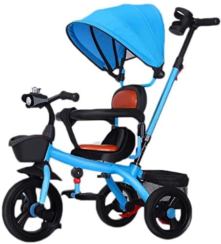 GCXLFJ Triciclo Bebe Triciclo Triciclo,de múltiples Funciones 3-en-1 Triciclo Bicicleta al Aire Libre de Tres Ruedas,Adecuado for los niños de 1-6 años de Edad,utilizando Ruedas,sin Aire,4 Colores