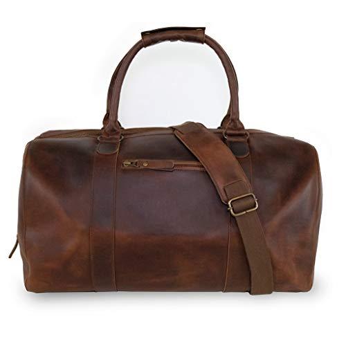 Premium Leder Duffle Bag - Weekender für Herren