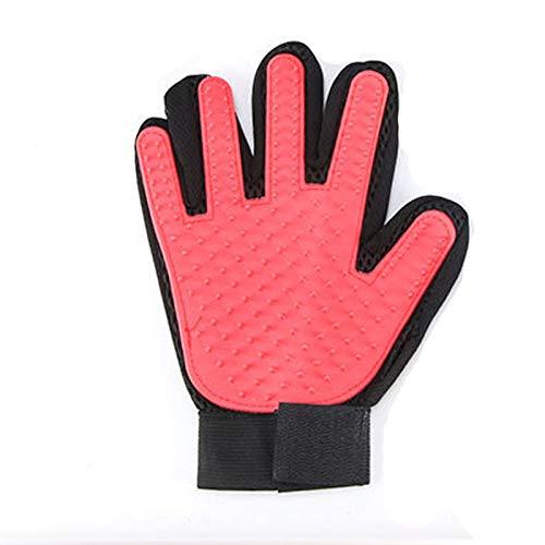 2 Pack huisdier verzorgende handschoen, kat bont handschoen kat-/hond hand borstel - massage handschoen met verbeterde vijf vinger ontwerp - perfect voor honden en katten met lange & korte bont ontharing
