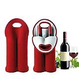 Bouteille de vin sac isotherme Boisson/vin/champagne/bière deux barettes de sac fourre-tout outil transporteur Home Kitchen (Color : 1)