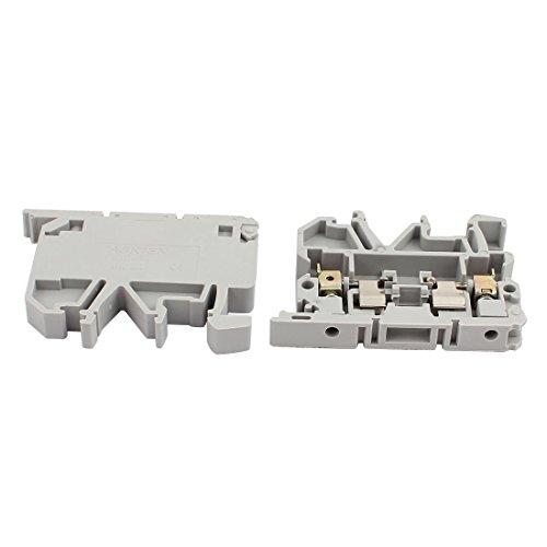uxcell 10Pcs ASK1EN DIN Rail Mount Fuse Holder Terminal Block 500V 4mm2 Cable Gray