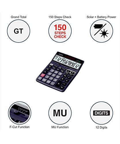 Casio DJ-120D Business Desktop Calculator with Check & Correct