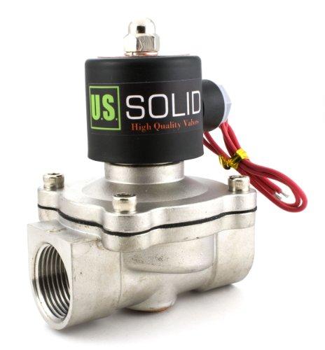 Válvula solenoide eléctrica de acero inoxidable de 1 pulgada 12 V CC...