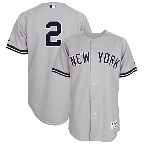 MLB Herren Trikot New York Yankees Six Button Authentic Road Jersey, Herren, Grau, 44/Large