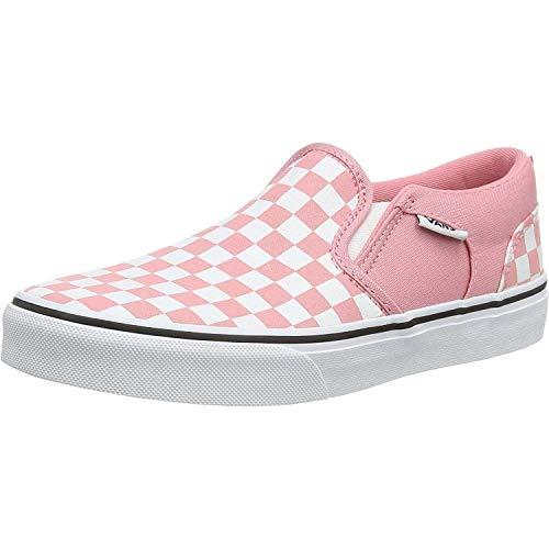 Vans Mädchen My Asher Slip On Sneaker, Pink ((Checkerboard) Pink Icing/White Wf9), 34.5 EU