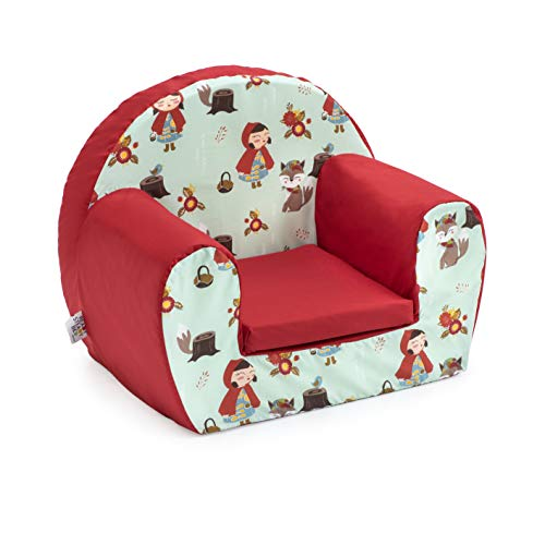 Ready Steady Bed Children Mini Armchair | Kids Sofa Seat Chair | Great for Playroom Kids Room Living Room | Lightweight and Durable (Little Red)