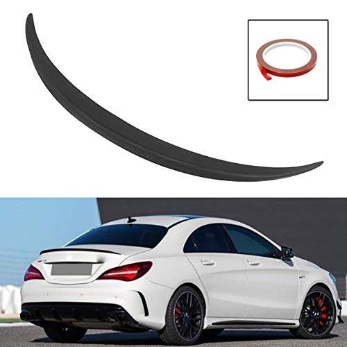 YXYNB Car Rear Spoiler Trunk Lid Spoiler Wing Car Rear Fuselage Boot Spoiler Lip Wing Trunk Spoiler Wing Plastic Unpainted Seat Fit For Mercedes Cla-Class W117 C117 Fit For A
