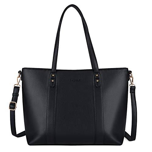 Bageek Handtasche Damen Schwarz Shopper Damen Groß Handtasche Groß Shopper Tasche Kunstleder Handtasche - A4