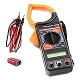 Madprice - Pinza amperimétrica digital medidor con puntales con pantalla LCD detector corriente eléctrica comprobador resistencia multímetro para medir tensión con protección contra sobrecargas
