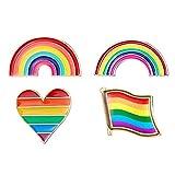 Holibanna Rainbow Brooch Drop Glaze Alloy Fashion Jewelry Breastpin Corsage for Girls Women Ladies 5pcs