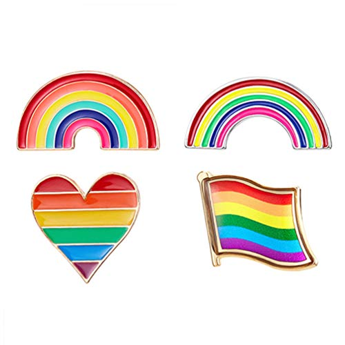 Holibanna Broche Rainbow Drop Glaze Joia moderna Corsage para meninas, mulheres, 5 peças