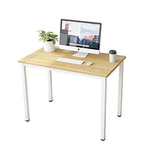 SogesHome Escritorio de Oficina Mesa de Comedor 100 x 60 x 75 cm oficina escritorio ,Mesa compacta,mesa de trabajo SH-LD-AC100LO