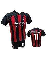 DND Di Andolfo Ciro fotbollstrikot Zlatan Ibrahimovic Milan och shorts med nummer 21 tryckt kopia auktoriserade 2019–2020 storlekar för barn och vuxna