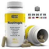 Nootrópico Natural Envase XL 60 Cápsulas | Fórmula para incrementar la energía, concentración y...