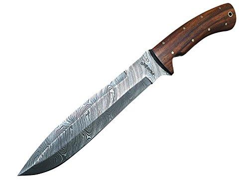 Perkin Damastmesser Jagdmesser mit Scheide - AR1101