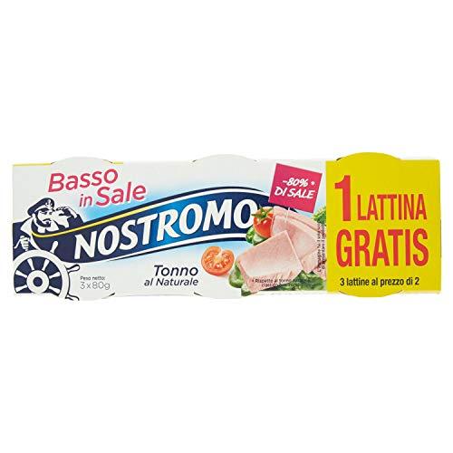 Nostromo Tonno Basso Nel Sale Al Naturale 3 Lattine - 240 Gr