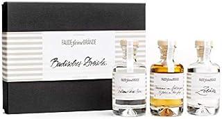 Faude Feine Brände Geschenkbox Badisches Dreierlei Williams-Christ-Birne, Weintrester Spätburgunder, Zibärtle 3 x 100ml 40%