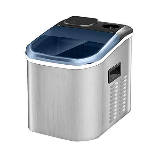 Review Small Home 25KG/24H Ice Machine, Transparent Window + LCD Display Fully Automatic Electric Square Ice Cube Making Machine, Can Be Connected to Barreled Water Or Added Manually