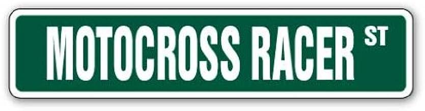 """Motocross Racer Street Sign Dirt Bike Motorcycle Cycle Racing   Indoor/Outdoor   18"""" Wide"""