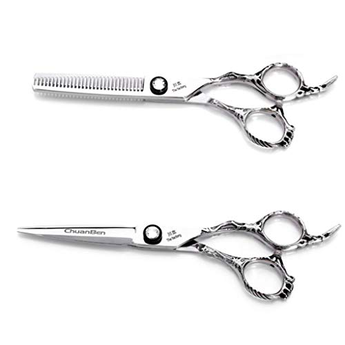 LBYSK Haut de Gamme Barber Ciseaux Combinaison Set 6.0 Pouces Fait de et Sharp en Acier Inoxydable Durable de Sharp Salon de Coiffure/Salon/Home Styling Outil