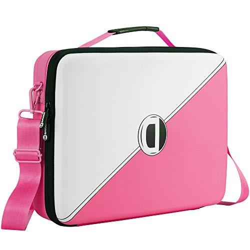 D DACCKIT Laptop Case Compatible for 13 Inch MacBook Pro/MacBook Air, Surface Pro X - Tablet Bag Includes Non-Slip Shoulder Strap & Pad (Pink)