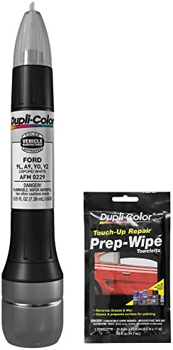 Dupli Color AFM0229 OxWhite Exact Match Scratch Fix All in 1 Touch Up Paint for Ford Vehicles product image