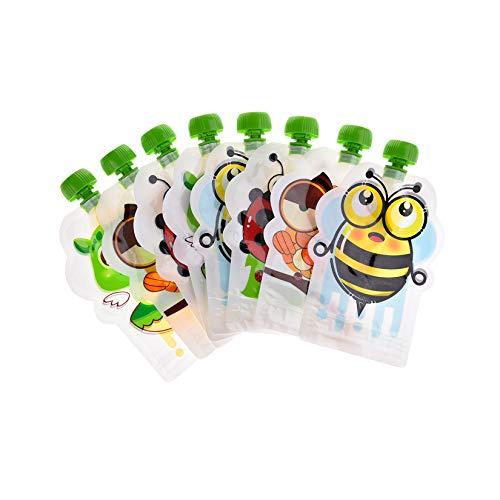 Sacchetto Di Cibo Sigillato Riutilizzabile Per Il Bambino, Modello Animale Adorabile Spremere Borse Di Stoccaggio Di Purea Dell'Alimento Per i Bambini Dei Bambini Dei Bambini (150 ML) (Colore Casuale)