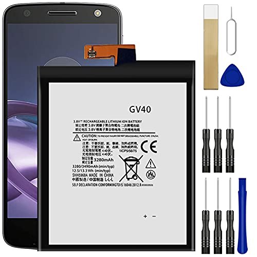 for Motorola Moto Z Droid Force XT1650-02 (SNN5968A) Replacement Battery GV40 Free Adhesive Tool