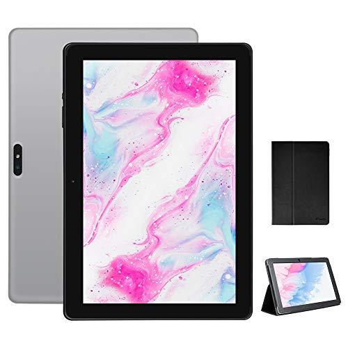 Tablet 10.1 Pulgadas, iproda Tablet Android 9.0 Quad Core, Tablet 3GB RAM 64GB ROM (TF128 GB) 5000mAh Dual WiFi, Micro HDMI, Bluetooth WiFi GPS Tablet Infantil, Tablet con PU Protectora Mental Shell