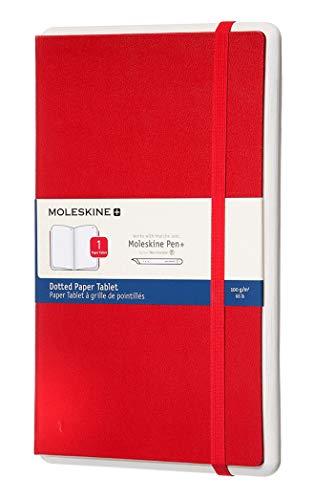 Moleskine PTNL34HF201 - Cuaderno Digital con Páginas Punteada y Tapa Dura, Apto para Uso con Bolígrafo Moleskine+, Tamaño Grande 13 x 21 cm, Color Rojo Escarlata