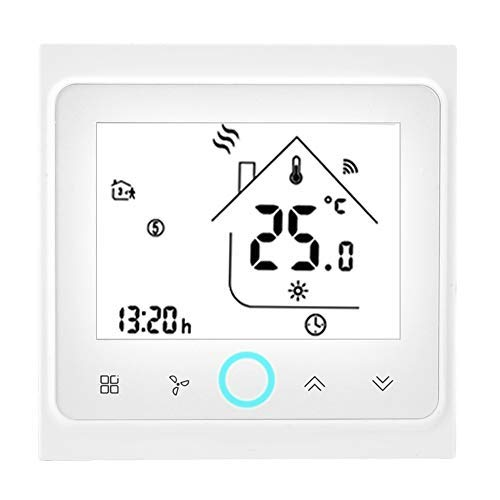 smart ac thermostats Wireless Programmable Thermostat, WiFi Electric Heating Thermostat, WIFI Smart Central Air Conditioning Thermostat Temperature Controller LCD Touch Screen(4 Pipe)