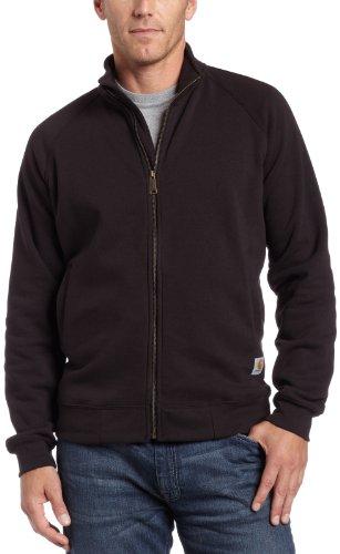 Carhartt .K350.BLK.S004 mittelschwerer Pullover mit einem Mock-Neck-Kragen und einem Reißverschluss auf der Vorderseite; Farbe:Schwarz, Größe:S.