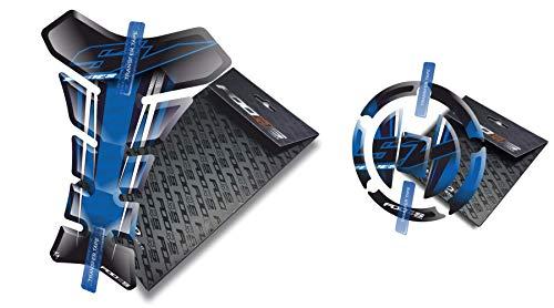 Fooqs Tankpad and Cappad for Suzuki Sv 650 S Sv650S 650s Sv1000 1000 SV1000S 2004-2016 (Blue) -  T1+CP3-SUZ-SVS-BL