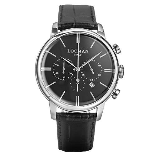 Locman - Reloj cronógrafo para hombre 1960, informal, cód. 0254A01A-00BKNKPK