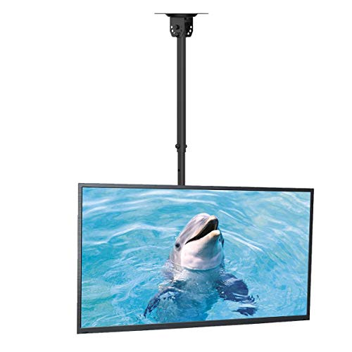 suptek Ceiling TV Mount Fits Most 26-50 inch LCD LED Plasma Panel Display with Max VESA 400x400mm Loaded up to 45kg/100lbs Height Adjustable MC4602