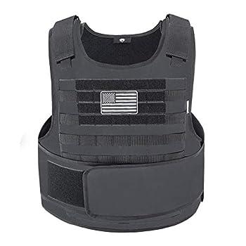 Snacam Tactical Airsoft Vest Molle Vest  Black