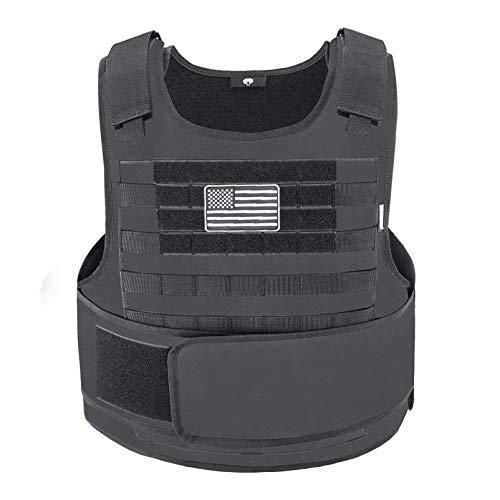Snacam Tactical Airsoft Vest Molle Vest (Black)