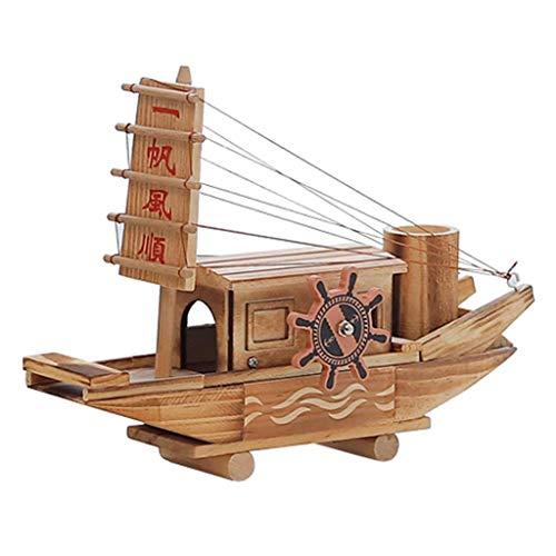 Taoke Music Box Sail Segel Spieluhr hölzernes Schiffsmodell Kreative Geburtstagsgeschenk Uhrwerk Spieluhr 8bayfa